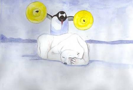 Pinguin-und-Eisbaer