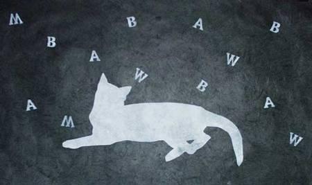 Katze-mit-Buchstaben