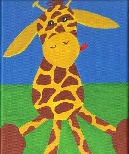 Giraffe-Leinwand