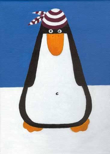 Pinguin-Leinwand