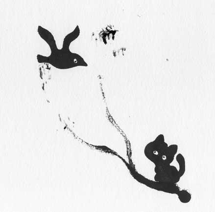 Katze-mit-vogel